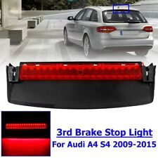 Red Rear Center 3rd Brake Light High Mount Stop Lamp For Audi A4 S4 2009-2015