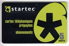 FRANCE  TELECARTE / PHONECARD  PREPAYEE ..  5MN STARTEC PRIVEE OFFERT +N°/NEUVE