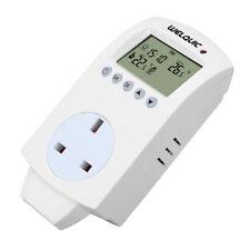 hy02tp PROGRAMABLE DIGITAL CON ENCHUFE TERMOSTATO LCD calentador eléctrico