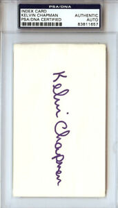 Kelvin Chapman Autographed Signed 3x5 Index Card New York Mets PSA/DNA #83811657
