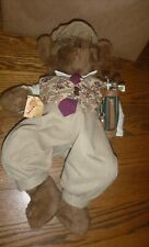 Handcrafted Teddy Bear Golfer ~ Bear Tales Janet Cook 1995 - amazing clothes 20""