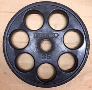 35 lbs Ivanko Revolver Rubber Coated Olympic Weight Plates - PRICE PER PLATE