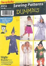 Simplicity Sewing Pattern For Dummies # 9910 Costumes For Children Size A (3-8)