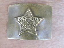 GENUINE WW2 RUSSIAN SOVIET ARMY SOLID BRASS/BRONZE BELT BUCKLE-HAMMER&SICKLE