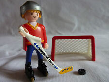 PLAYMOBIL personnage vacances sport loisirs montagne joueur hockey but cage