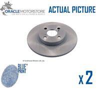 2 x NEW BLUE PRINT REAR BRAKE DISCS SET BRAKING DISCS PAIR OE QUALITY ADT343123
