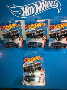 LOT OF (4) '64 NOVA WAGON GASSER HOT WHEELS,2020 WALGREENS EXCLUSIVE,BLUE!!!!!!!
