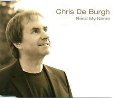 CHRIS DE BURGH READ MY NAME 1 PISTE PROMO CD D2160