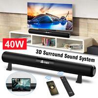 A-TION 40W Wireless Bluetooth 5.0 Sound Bar Home Theater TV Soundbar Subwoofer