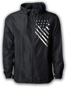 Tactical Pro Supply USA Windbreaker Jacket- for Men or Women, American Flag...