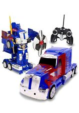 RC Toy Transforming Robot Remote Control (27 MHz) Truck Button Transformation (a