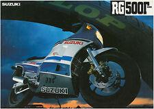 SUZUKI Brochure RG500 Gamma 1985 1986 1987 Sales Catalog REPRO