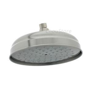 "Brushed Nickel Satin 8"" Round Bell Bathroom Overhead Rain Shower Head Bath Spray"