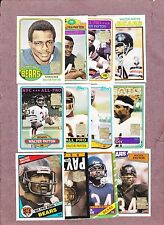 Complete 12 Card Set of 2001 Walter Payton Reprint Cards Chicago Bears NM-MT HTF