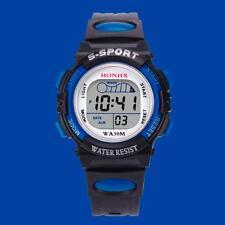 Waterproof Children Boys Kids LED Digital Sports Watch Alarm Date Wrist Watch I1