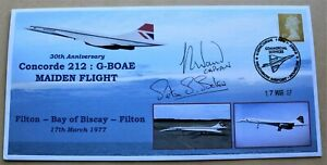 CONCORDE 212 G-BOAE MAIDEN FLIGHT 30TH ANNIV. 2007 COVER SIGNED BY BAKER & WAND