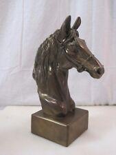 """10.25"""" Bronze Horse Statue Bust  B7286"""