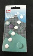 I pulsanti Self copertura, plastica bianca. 11 mm. 6 per confezione.