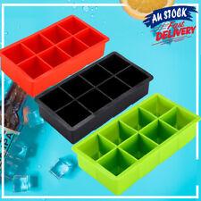 Large Silicone Ice Cube Tray Mold Square DIY Size ON Mould Big Jumbo 8 Giant