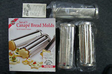 Norpro 3656 Heavy duty Tin Bread Canape 3 piece Mold Set New In Box