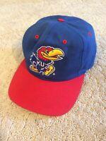 Vintage Kansas Jayhawks Snapback Hat 90s