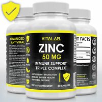 Zinc Complex Extra Strength 50mg Immune Support Zinc Picolinate Supplements