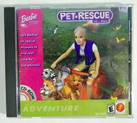 Barbie Game Pet Rescue Adventure PC CD-Rom Windows 95/98 Jewel Case W/Manual