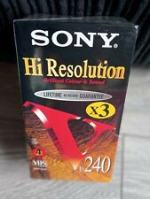 More details for sony hi resolution vhs video tapes blank brand new e-240 4 hour tapes x3 tapes