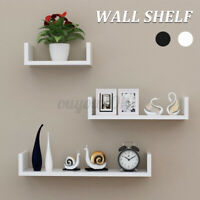 3PCS Floating Wall Shelves Display Shelf Rack Book Storage Decor Home Display