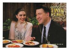 TWIN PEAKS GOLD BOX POSTCARD #50  M AMICK DAVID LYNCH AS GORDON COLE & SHELLY