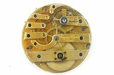 RARE ANTIQUE JACQUES ROULET LOCLE KEY WIND 38MM WATCH MOVEMENT FOR PARTS/REPAIR