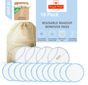 Reusable Bamboo Make Up Remover Face Pads Zero Waste Washable Eco Vegan