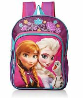 Frozen Disney Elsa Anna Little Girls Kids Pink Cartoon School Backpack Bookbag