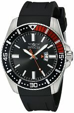 Invicta Men's 21392 Pro Diver Analog Blk & Red Bezel Quartz Black Silicone Watch