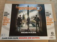 """Tom Clancy's The Division 2 Gamestop Promo Poster 36x27"""" Ps4 XBOX Game Art"""