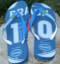 Havaianas Flip Flops size 5.5, 6/7 blue green Brasil Brazil Summer CUTE New
