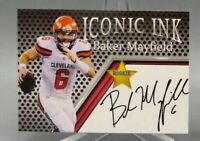 BAKER MAYFIELD 2018 ICONIC INK AUTOGRAPHED ROOKIE CARD! HEISMAN TROPHY WINNER!