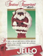 Festive Favorites JELL-O 1988 Santa Claus Christmas Gelatin Mold Recipe Booklet