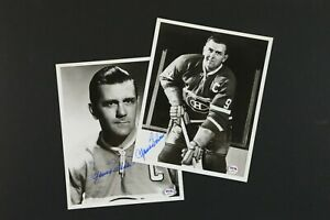 Lot of 2 Maurice Richard AUTOGRAPHED Canadiens Hockey Photos w/ PSA Certs