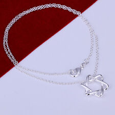 925 Beautiful Silver Star of David Necklace Esther Queen Sheba Solomon Valentine