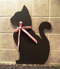 Lavagnetta cucina Shabby chic Cameretta bimbi gatto fatto a mano regalo arredo