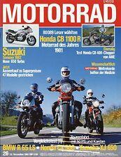Motorrad 26/81 1981 MZ TS 125 DDR AME Honda CB400N CX 500 BMW R65 LS XJ 650 moto