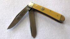 Carl Schlieper trampero cuchillo plegable Cuchillo con bolsa coleccionista cuchillo amarilla