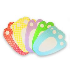 Easter Bunny Paw Foot Prints - Easter Egg Hunt - Pack of 10 assorted colours