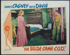 THE BRIDE CAME C.O.D. JAMES CAGNEY BETTE DAVIS 1941 LOBBY CARD
