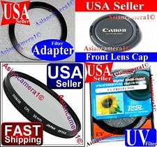 Lens Adapter Ring + Lens Cap + UV + CPL Filter For Canon Powershot SX10 IS New