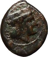 THERMAI in SICILY 407BC HERA & HERCULES Rare Ancient Greek Coin  i24877