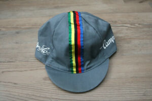 Campagnolo Italy Vintage Cycling Bike Fixed Gear Rainbow 80's Retro Cap Hat
