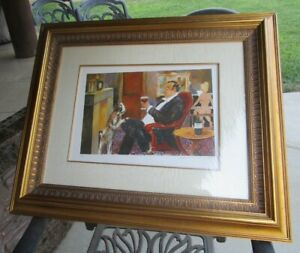 Guy Buffet Lithograph 7 of 50 Titled A Happy Man Beautifully Framed