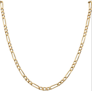 9ct Yellow Gold 20 inch Figaro Curb Chain Necklace - 2mm Width